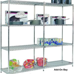 Add On Chrome Wire Shelving