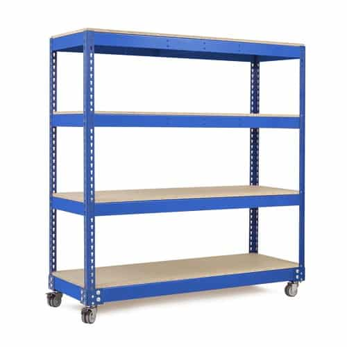 Heavy Duty Shelving Mobile Bay with 2 Swivel and 2 Locking Castors