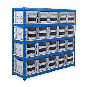 Heavy Duty Shelving - 40 Open Fronted Eurocontainers