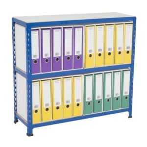 Medium Duty Shelving Lever Arch File Bay - Single Sided For 20 x A4 files