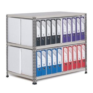 Medium Duty Shelving Lever Arch File Bay - Double Sided For 40 x A4 files