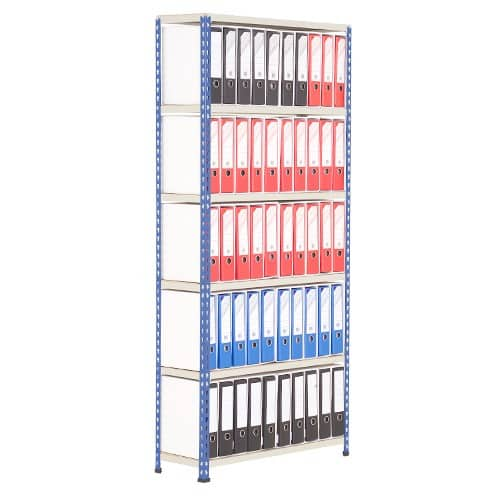 Medium Duty Shelving Lever Arch File Bay - Single Sided For 50 x A4 files