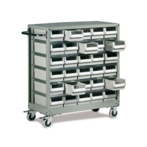 Small Parts Cabinet & Trolley 30 drawers