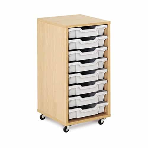 Shallow Tray Wooden Storage Units - Including 8 Trays