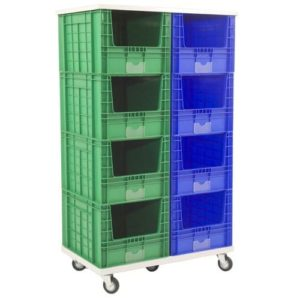 Mobile Stack of 8 Large Containers