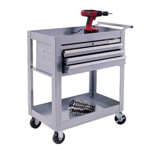 Silver Range 2 Shelf Trolley And 3 Drawer Cabinet