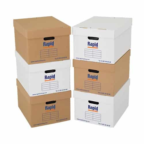 Heavy Duty Shelving Double Sided Archive Storage - 50 Boxes